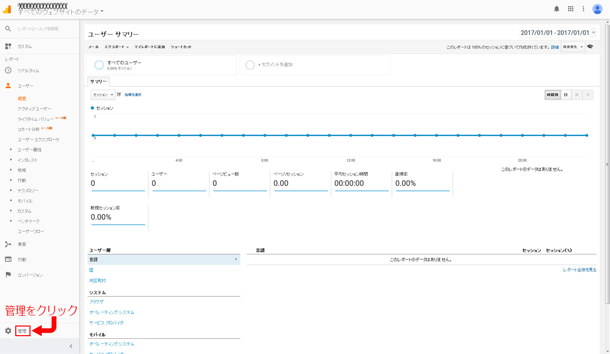 Google Analyticsの基本設定